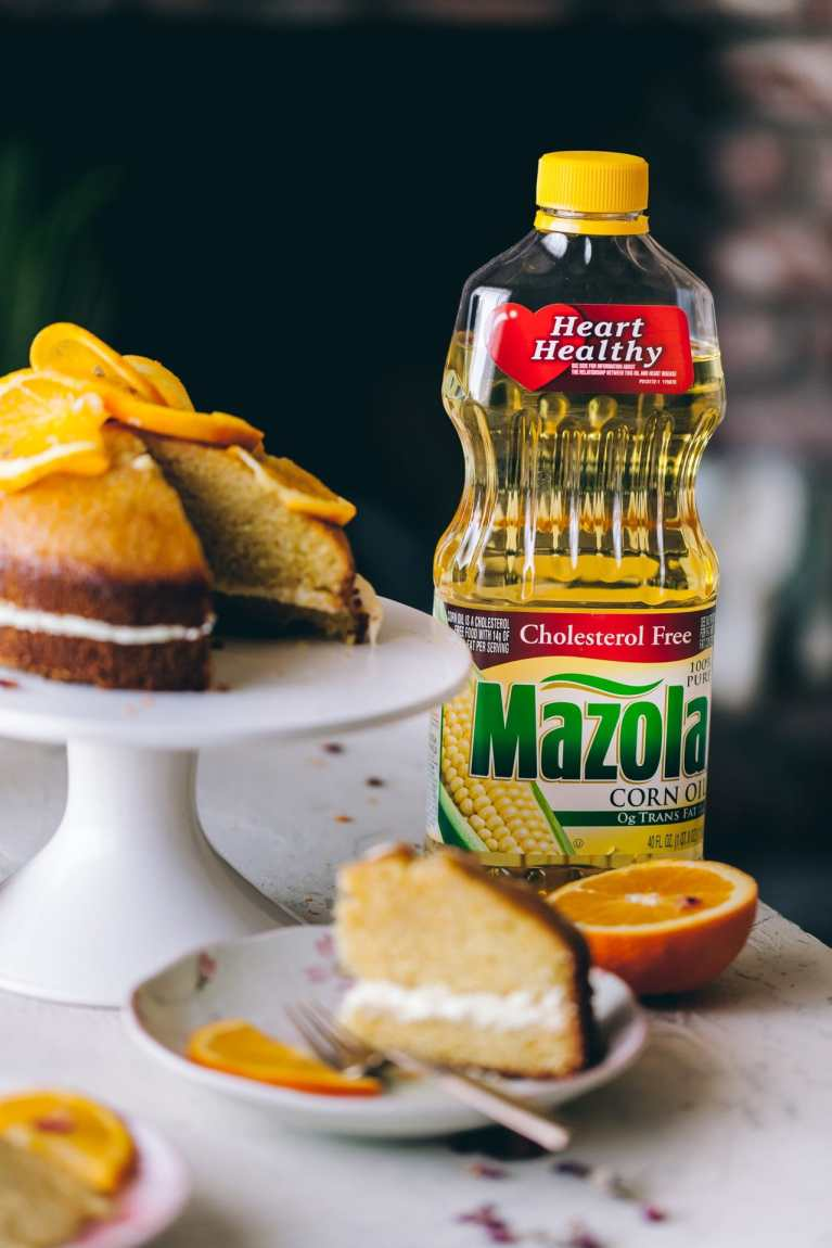 Mazola corn oil | Playful Cooking #cake #orangecake #cornmealcake #foodphotography This shop has been compensated by Collective Bias, Inc. and its advertiser. All opinions are mine alone. #MazolaHeartHealth #CollectiveBias
