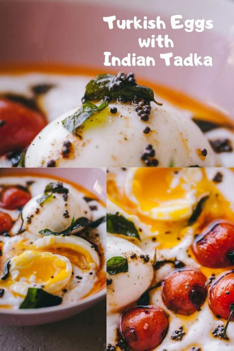 TURKISH EGGS WITH INDIAN TWIST