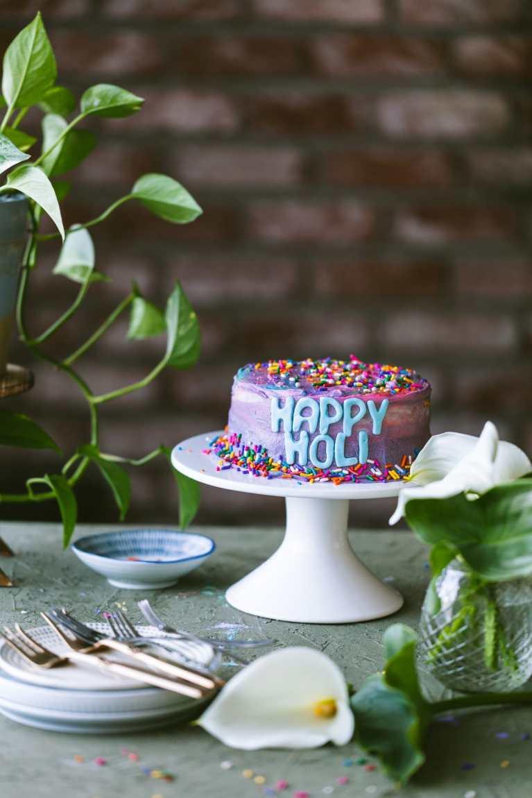 Happy Holi Cake | playful cooking #cake #rainbowcake #6inchcake