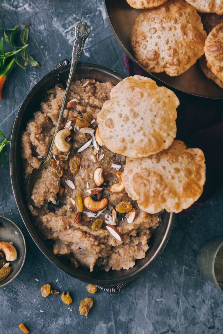 Sooji Halwa | #sooji #semolina #indiandessert #festivefood #pudding #foodphotography #foodstyling