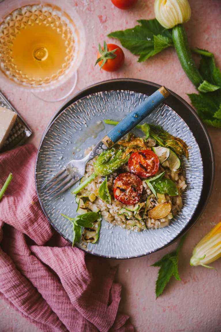 Summer Risotto with Tomato Confit and Zucchini 4