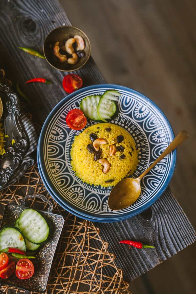 Bsanti Pulao - Bengali Mishti Pulao (Sweet Rice Pilaf)