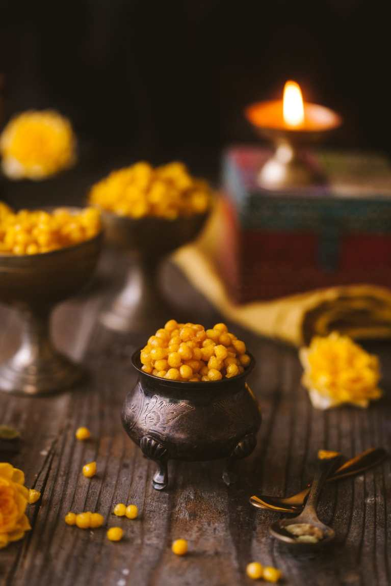 Meethi or Sweet Boondi - Delicious Indian desserts (perfect for Diwali)