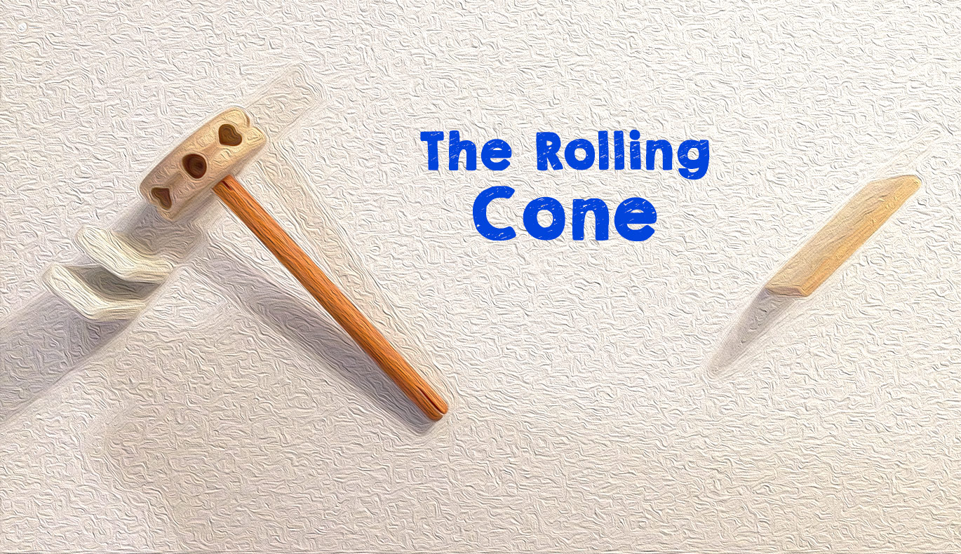 Tinker Toy Rube Goldberg Cone