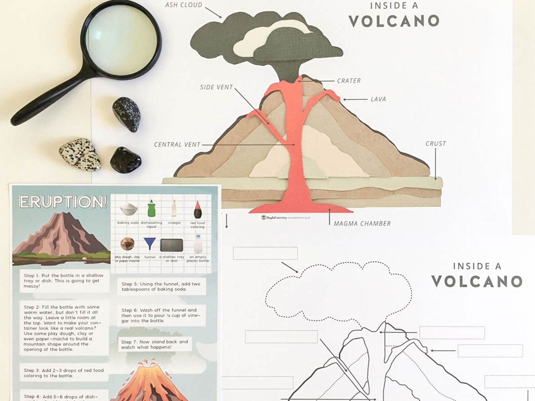 Wiring And Diagram Diagram Of Volcano For Kids