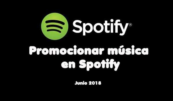 Como promocionar música en Spotify
