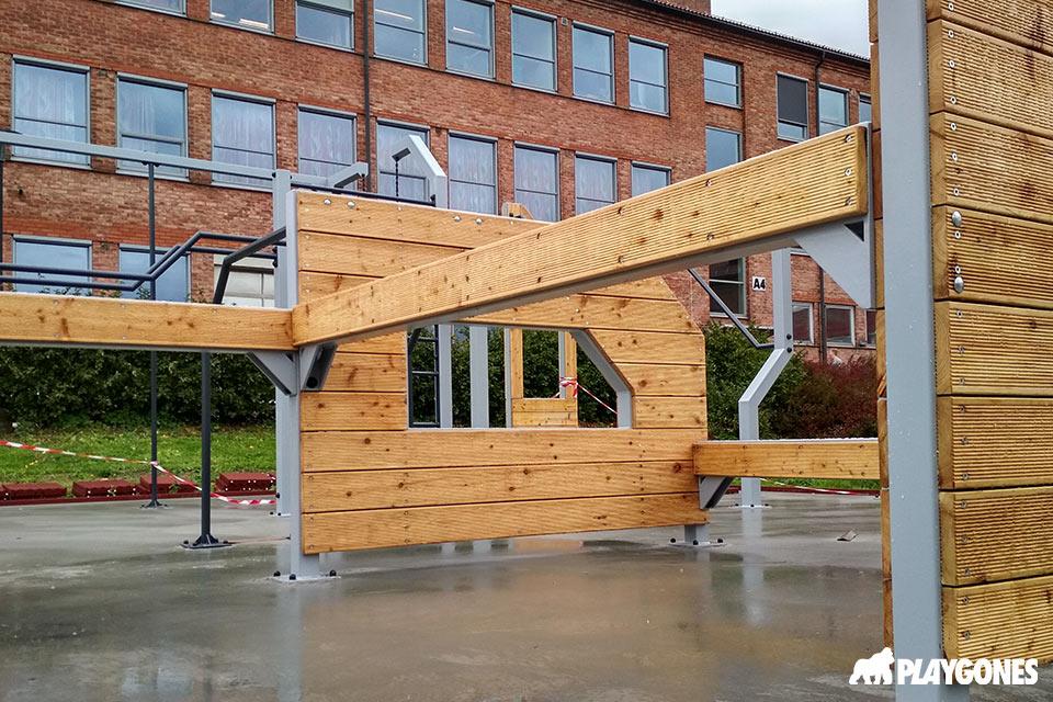 Structure spécialisée pour la création d'aire pour l'entrainement au free running
