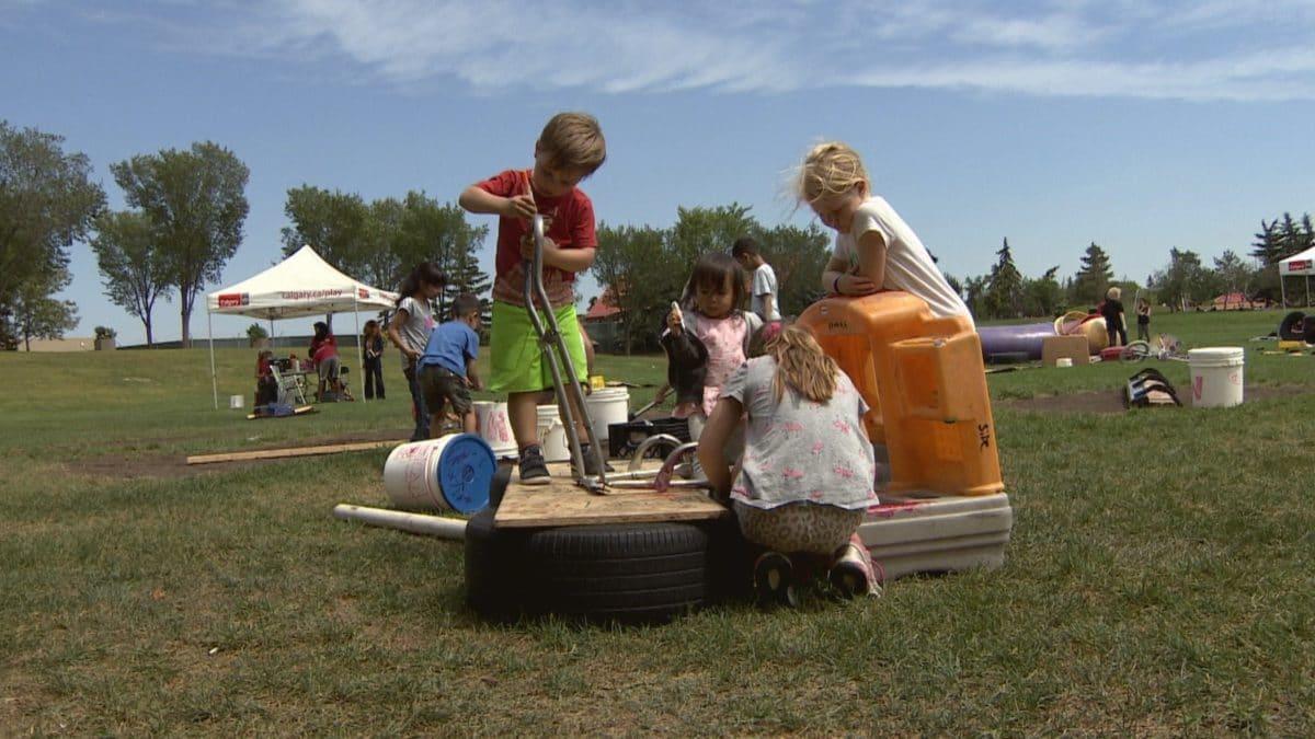 Terrain d'aventure modulable pour enfant au Canada