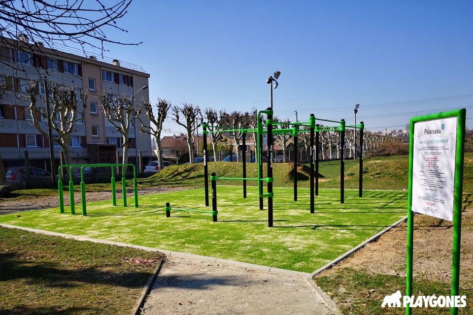Vue d'ensemble de la nouvelle aire sportive de la commune du Palaiseau