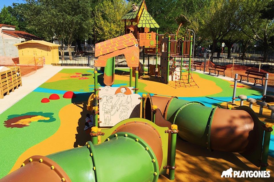 Aire de jeux et sol epdm en dessin au Squre de Petit Charan à Valence