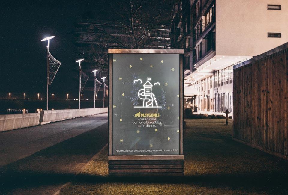 2020 Une campagne de voeux digitale par Playgones la marque au gorille