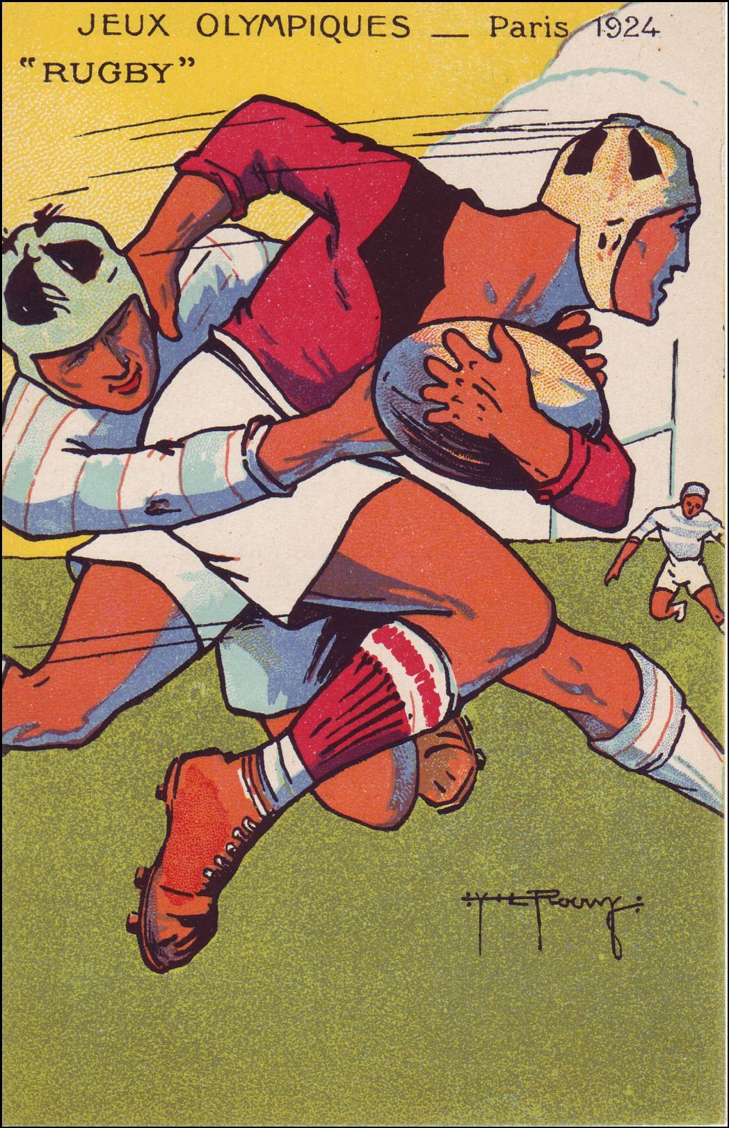 L'équipe des Etats-unis de rugby est composée de joueurs de football américain. Celle ci remporte le tournoi en battant la France 17 à 3.