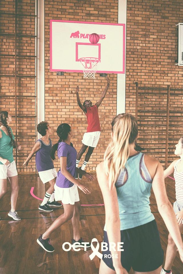 Basket, campagne sportive octobre rose 2020
