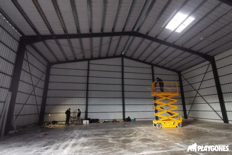 Finition du nouvelle entrepôt