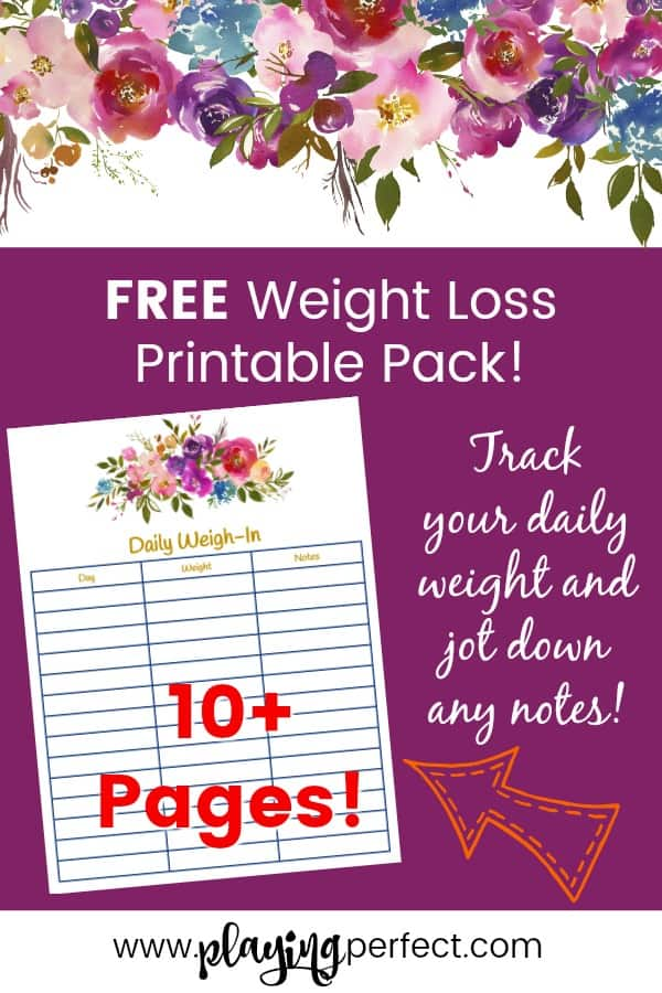 Weight Loss Printable Pack That Will Help You Get Healthy Playing