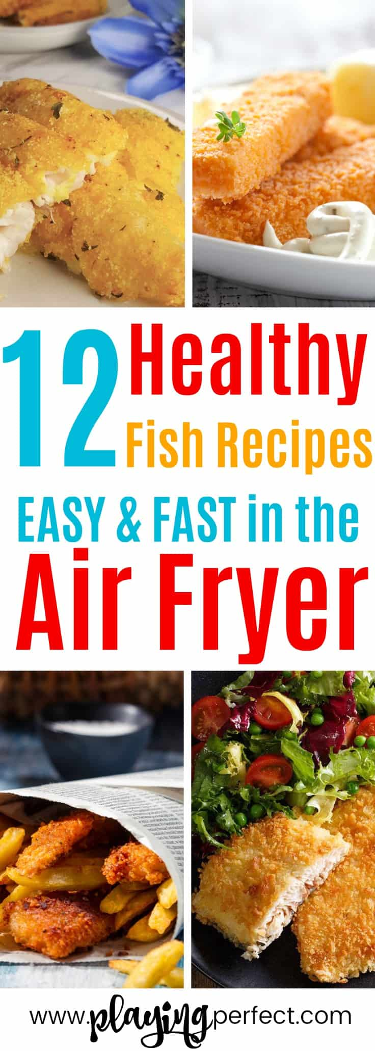 Air fryer fish recipes! If you're looking for some healthy air fryer recipes that are easy and quick, you're going to love these easy air fryer recipes! Click over to discover the best fish air fryer recipes that will be the best air fryer recipes ever! FREE printable pack too! | playingperfect.com |