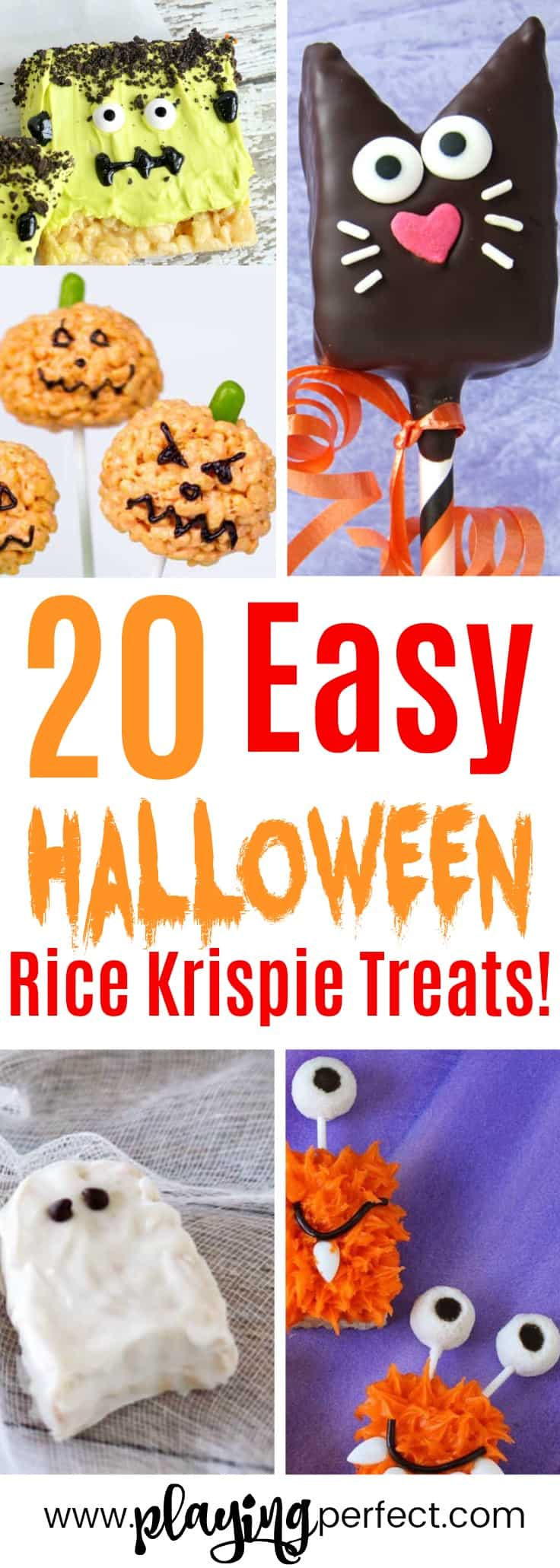 20 Of The Best Halloween Rice Krispie Treats - Playing Perfect