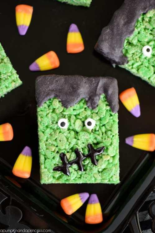 halloween rice krispie treats halloween rice krispie treats green frankenstein check out the ultimate