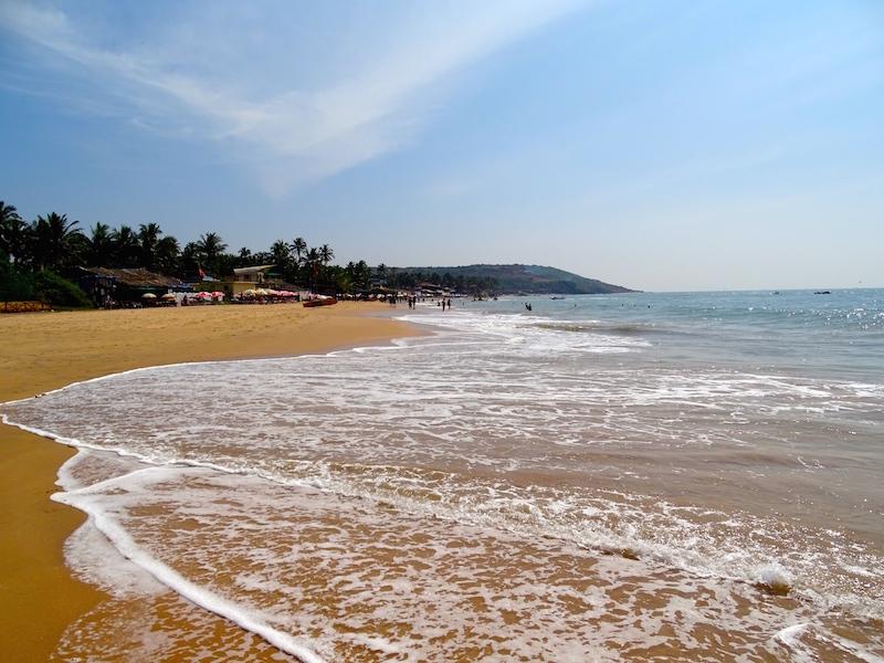 Photo de la plage de Baga a Goa en Inde
