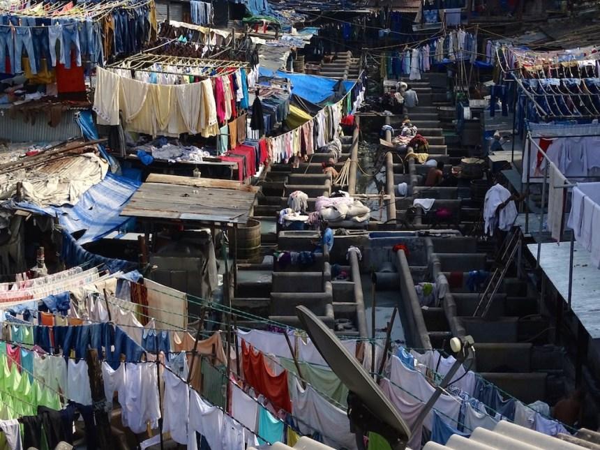 Les lavoirs de Mumbai en Inde