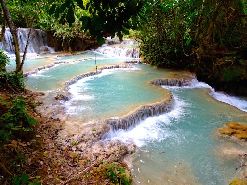 Les chutes d'eau Kuangsi Waterfall a Luang Prabang au Laos