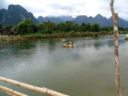 Paysage de vang vieng au laos