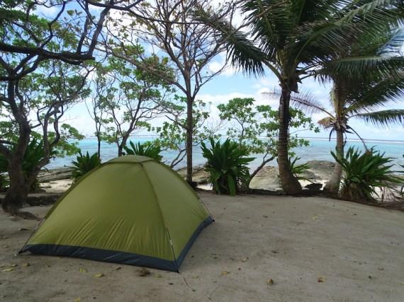 Camping à Huahine