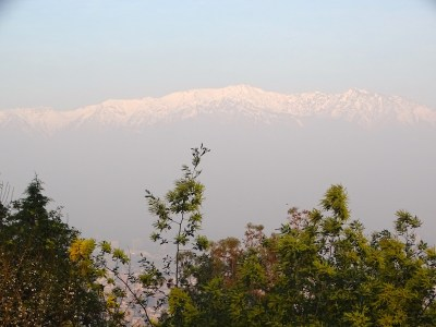 Vue sur la cordillère des Andes