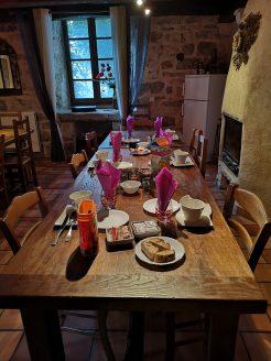 La table d'hôte du domaine de la Vialette à La Canourgue