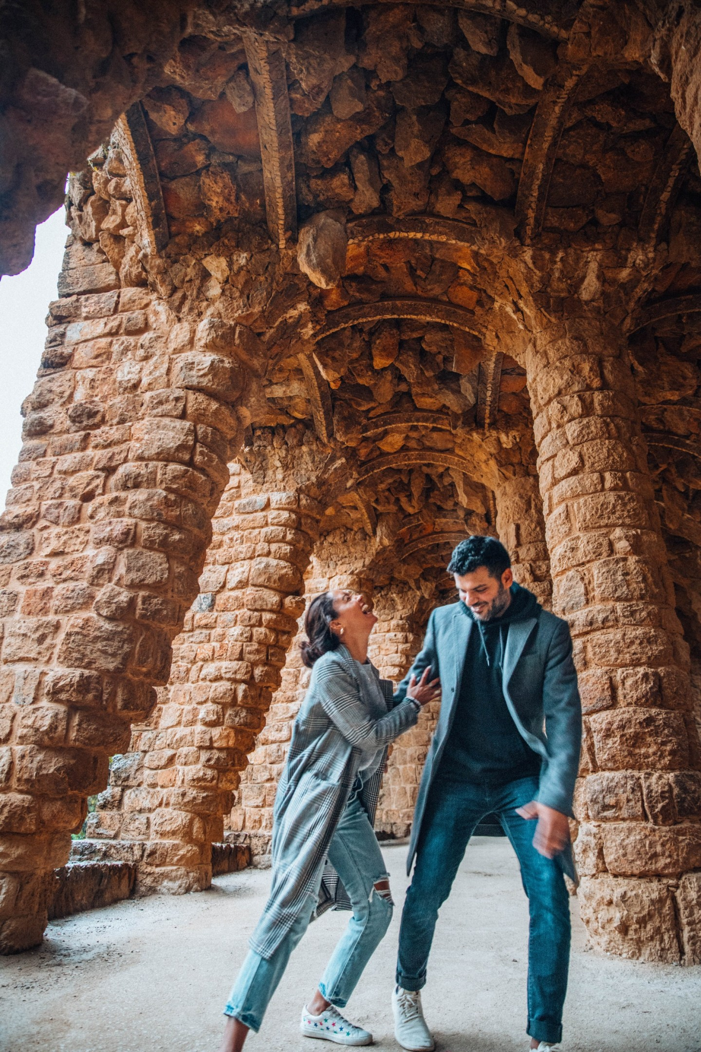 Filipa and Sameer-Park Guell
