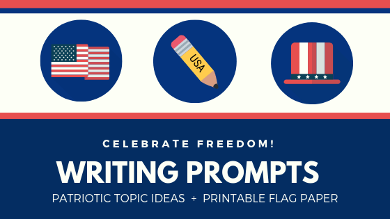 FREE-Festive Flag Paper and 4th of July Writing Prompts