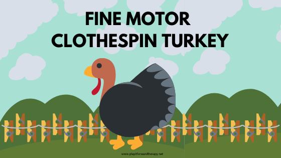 Fine Motor Clothespin Turkey