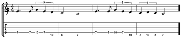 The tab to Seven Nation Army by The White Stripes