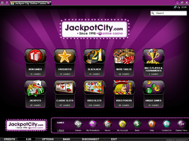 Jackpot city casino screen shot