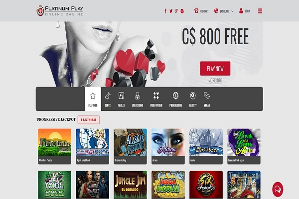 platinum play casino canada bonus