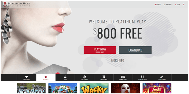 platinum play casino canada