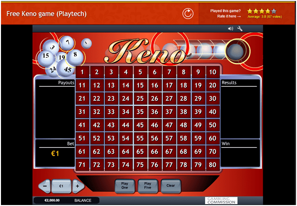 Playtech Keno