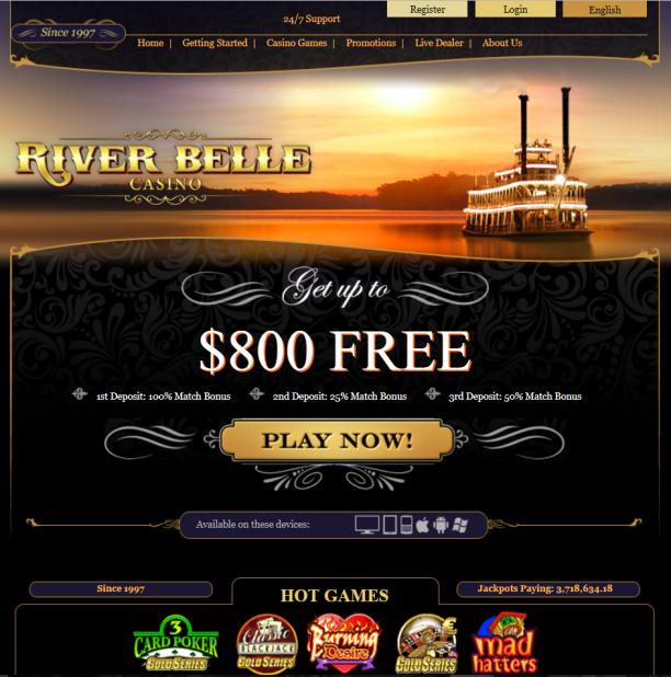 River belle casino canada keno