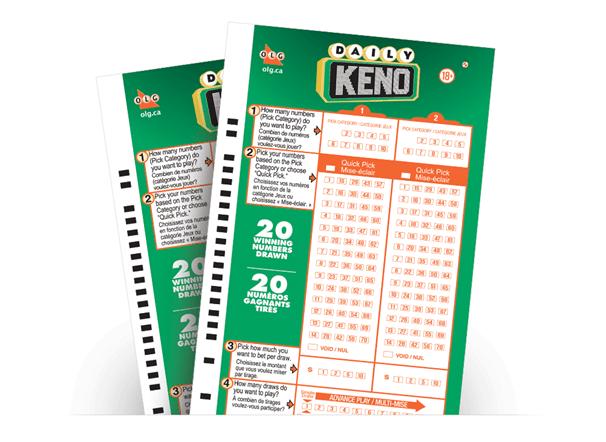 Daily Keno Ticket