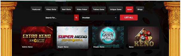 BTC Keno Games
