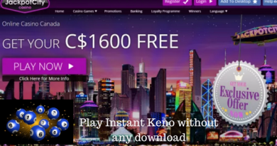 How to play Instant keno at online casinos without any download