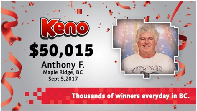Keno winner BCLC- How to check keno results in British Columbia Canada