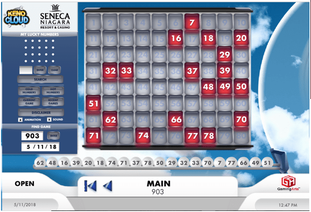 How to play Keno at Seneca Niagara
