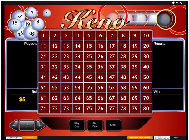 Casino.com Play Keno in CAD