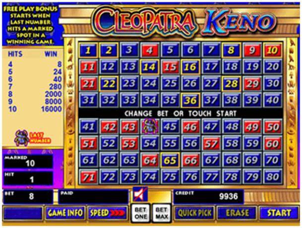 Cleopatra Keno