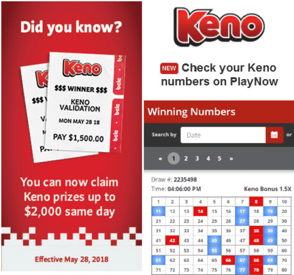 How to claim prize for Keno in BC Canada