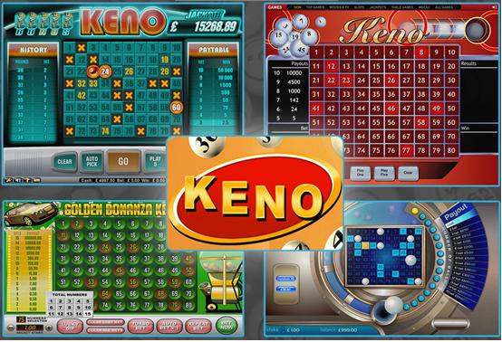 Keno online games at Canada