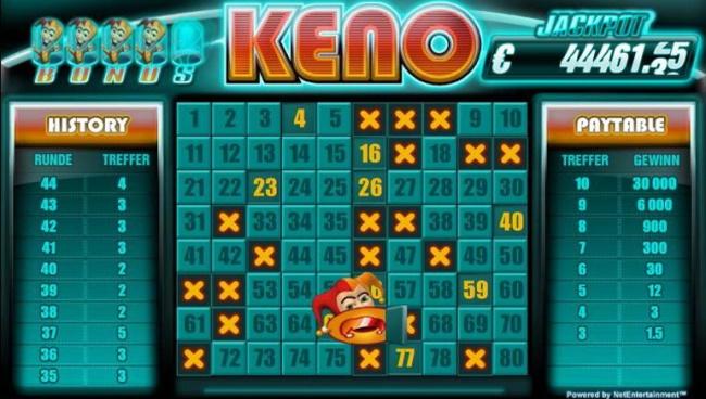 Jackpot-Keno