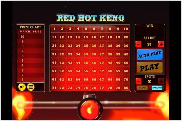 red hot keno game