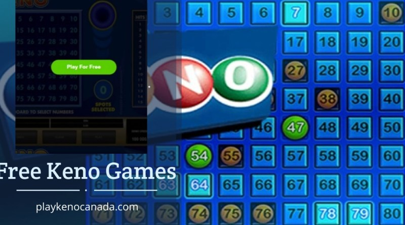 Free Keno Games In Canada To Play Without Real Money Deposit